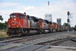 Westbound coal train departs
