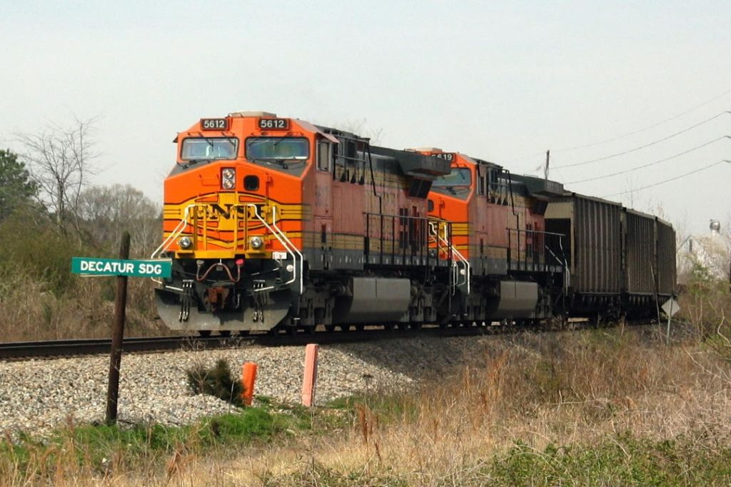 BNSF Coal Train Waiting for the Mainline