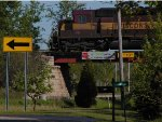WC 7520 crossing E&LS and CR 420 M.5 Rd by Mead Paper in Escanaba