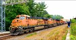 BNSF 6087 east with a stack train
