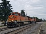 BNSF 6156 leads a west bound with empties