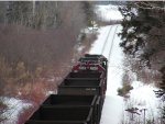 GCFX leading WC 2006 south by Goose Lake heading to Escanaba with loaded train