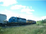 GEXR 581 leaving Goderich at mile 44.8 Goderich Sub.