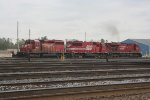 CP power being put away at CSX's Frontier Yard