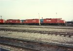 A quartet of CP GP9u's await their next assignment