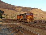 Westbound grabage train