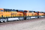 Part of BNSF 6790 Lead unit and BNSF 6789 and BNSF 6787 #2 and #3 units behind her as they head West.