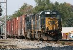 CSX #8645 after accident