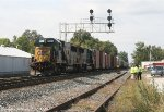 CSX Crews and the Illinois State Police investigate the accident that occurred this morning.