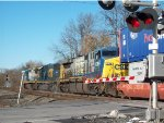 Green Signal ahead at CP-VO for CSX 7525