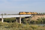 UP 4060 Leading Train of UP Ballast Hoppers