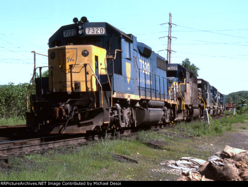 D&H GP-38-2 #7320 is head out