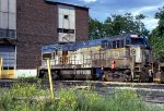 D&H U-23-B #2307 sits forlornly ouside the Colonie Shop