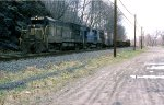 D&H U-23-B leads a freight at River Rd.