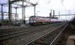Amtrak E-60-CP #972 leads a westbound at Frankford Junction