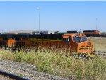 BNSF ES44DC 7421 & BNSF SD40-2 1810