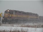 WC 7526 in the snow passing MP 134