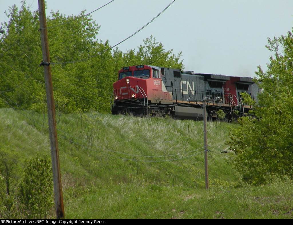 CN 2639 just crossing Oliver Bridge headed into Duluth