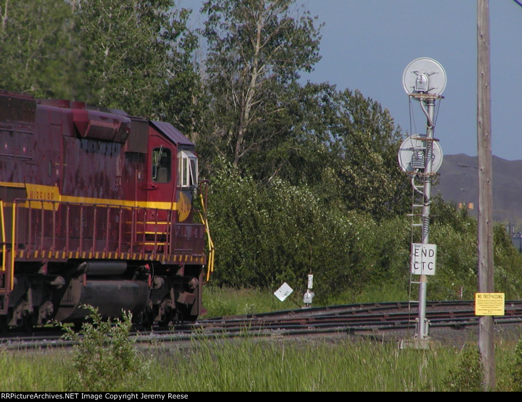 DMIR 404 entering yard