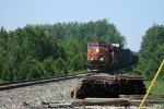 CN 5702 passing rail stacked