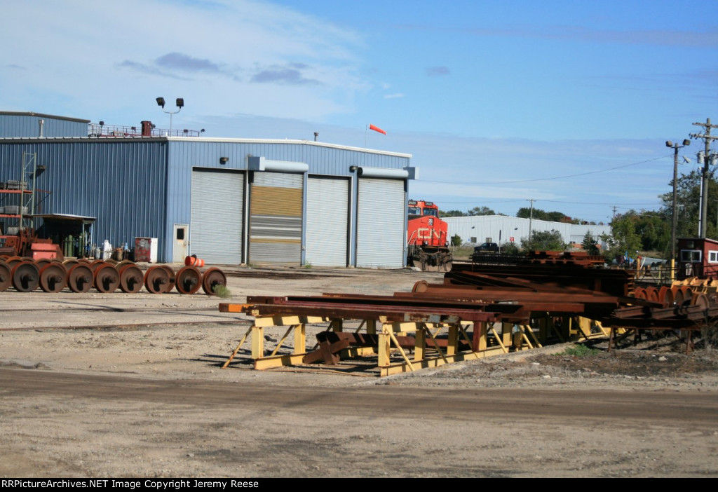 CN 2625 showing a familar sight in WC day at the roundhouse