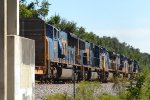 CSX POWER MOVE ON Q613 CSX 7660 LEADS
