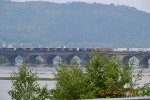 NS INTERMODAL MEETS EASTBOUND FREIGHT MARYSVILLE BRIDGE
