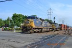 CSX CW40-8 7668 CW44AC 445 AT RAILROAD AVE CROSSING