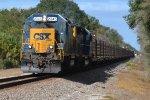 CSX RAIL TRAIN ON THE S LINE