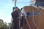 Missouri Highway Patrolmen Board The Locomotive