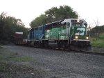 BNSF 3162 and EMDX 808