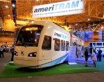 AmeriTram Streetcar at Kinkisharyo booth