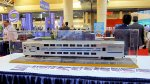 Long Island Railroad Commuter Bi-Level car model at Kawasaki booth