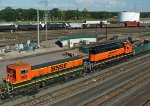 BNSF SD9 slug at Northtown in Mpls MN 2011 on the hump.