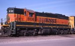 BNSF SD9 at Northtown Mpls MN in 2002.