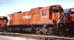 CP Rail Alco C636 at St Paul Daytons Bluff yard engine house in 1996.