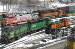 BNSF SW1200 at Northtown in MN in 2005