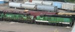 Retired SD9s at Northtown yard in 2007.