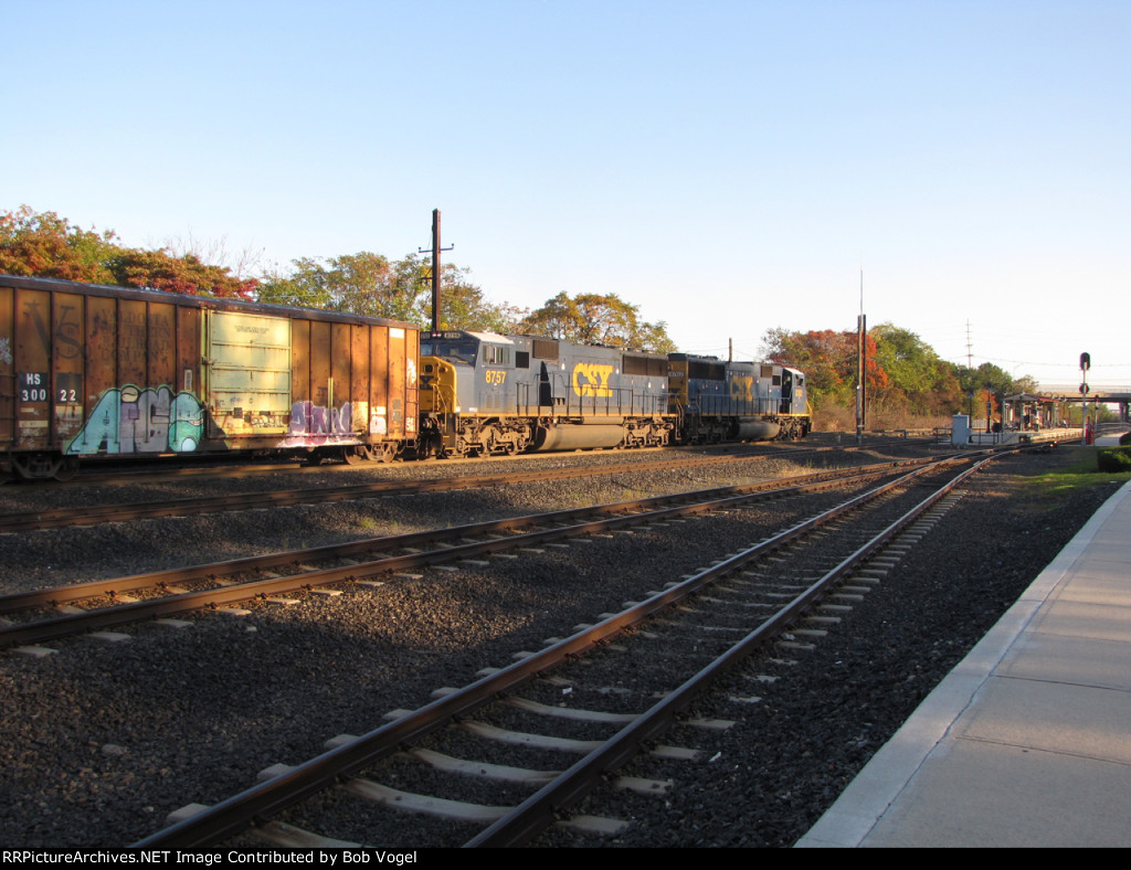 CSX 8757 and 8762