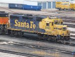 Awful pic, but yellow bonnet BNSF 2950