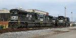 Cat powered locomotives at Norris yard