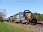 CSX SD40-2 8858 goes through Berea with a loaded tanker train.