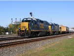 CSX GP38-2 2529 with helper GP38-2 2516 lead another mixed freight westbound.