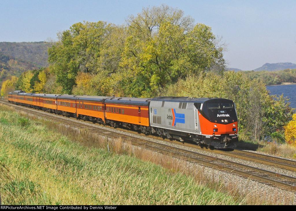 Amtrak 156, CP's  River Sub.