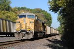 Union Pacific 6918 pushes west for more coal.