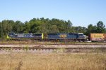CSX 7371 (C40-8W) AND 8740 (SD60I)