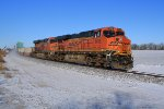 BNSF 6616 in snow