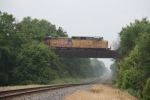 UP 6064, eastbound UP coal train crossing over the CN