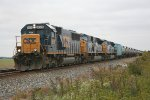 CSX 8609 Eastbound with Ethenal Train at Holgate, OH 10/1/2011