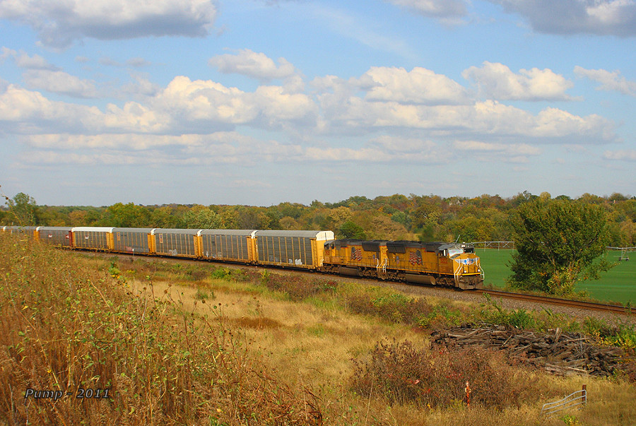 Southbound UP Auto Train